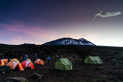 CAMPING BENEATH MT KILIMANJARO