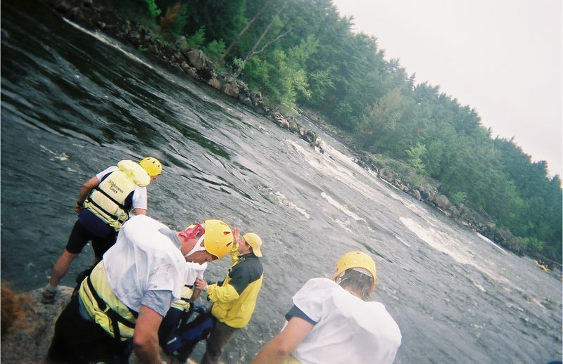 See that yellow raft?  Swim for that...  (No, we're not kidding.)