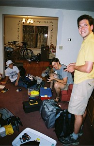 Packing party the night before