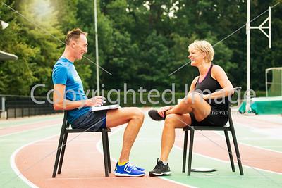 Ellen van Langen voormalig Olympisch kampioen in een interview voor SPRINT magazine met Ron Bekker.