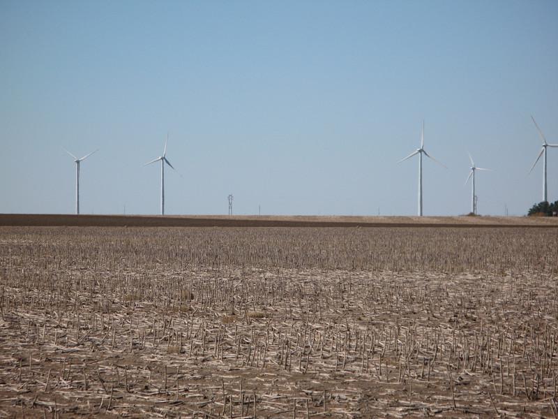 Wind turbines in Montezuma, Kansas near Dodge City, Kansas.