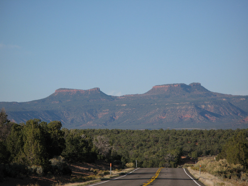 Bears Ears formation on Utah Hwy 264