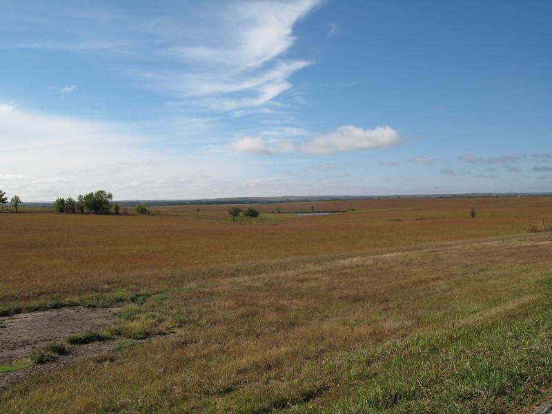 US Hwy 56 near Stong City, Kansas.  Much of US Hwy 56 follows the Santa Fe Trail