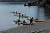 4429 Kayak tour group landing on beach
