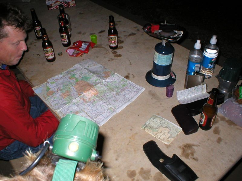Planning the route to the Mexican border.