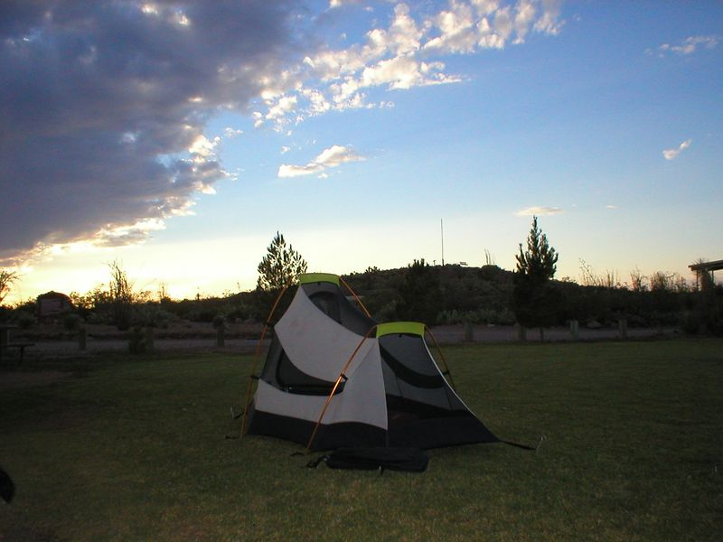 We're planning on crossing into Mexico at Columbus, NM. This way we drive along the Sierra Madres on our way to Copper canyon.<br /> Camp site at the Pancho Ville state park, Columbus.