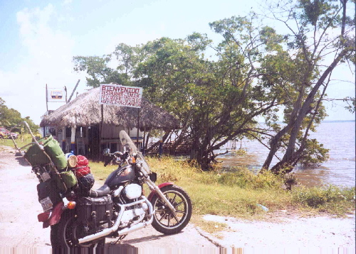 Great cruising on a thin strip of land - Gulf coast in the state of Campeche, Mexico.