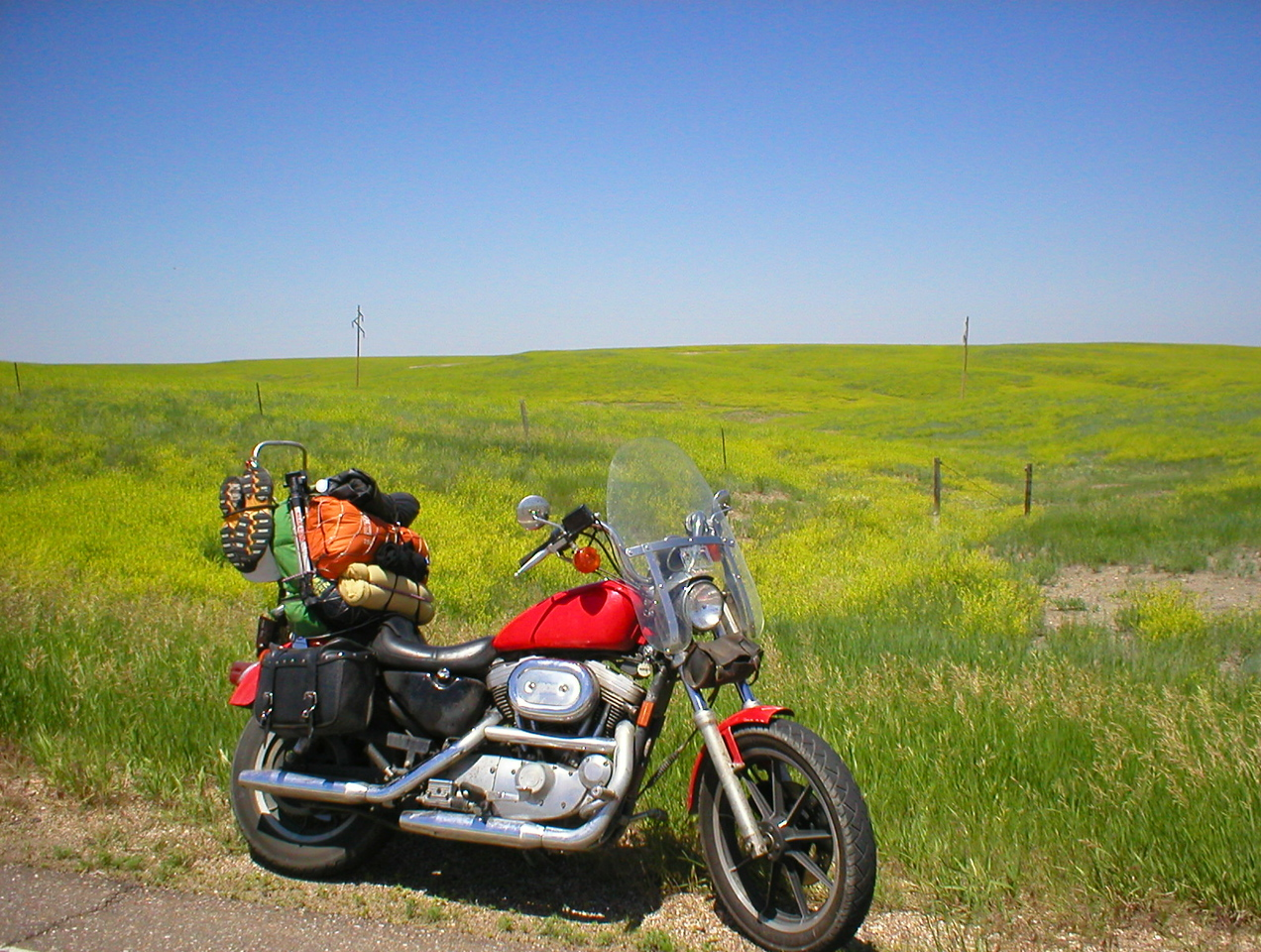 The rest of the ride was uneventful. I do the back roads through South Dakota, Minnesota to home in northern Wisconsin. <br /> <br /> The fields in SD were rich with color.