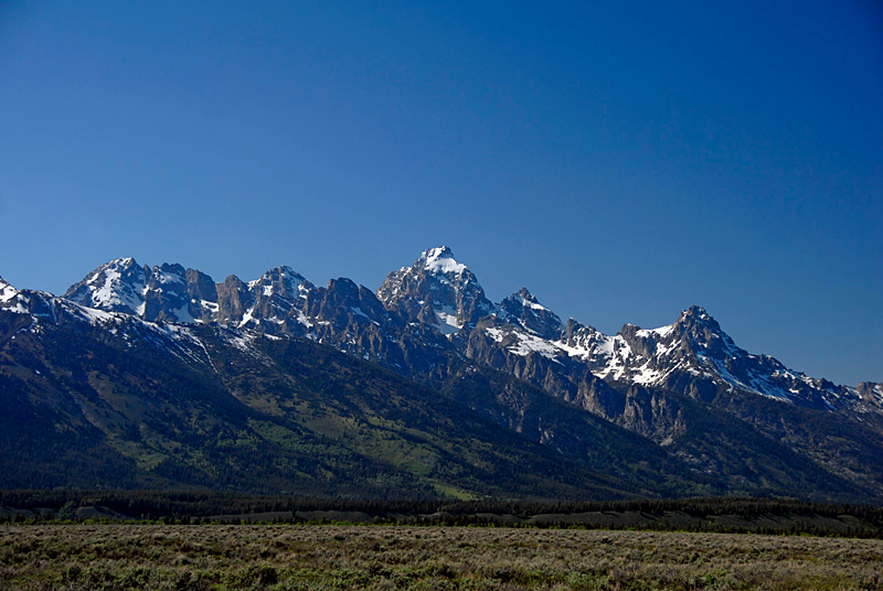 The Tetons as seen from Teton Park Road.
