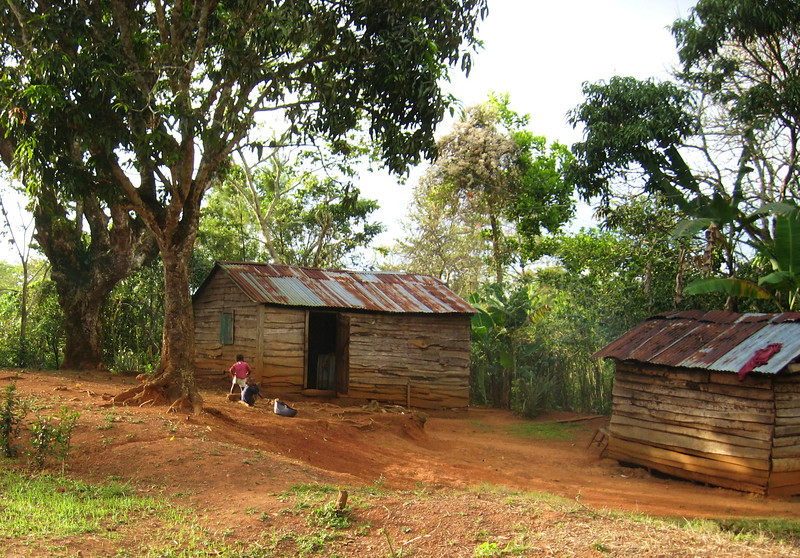 Homes are noticably more primitive and basic the higher the road climbs