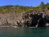 1332 Bret & Gary paddling north from Bowman Bay