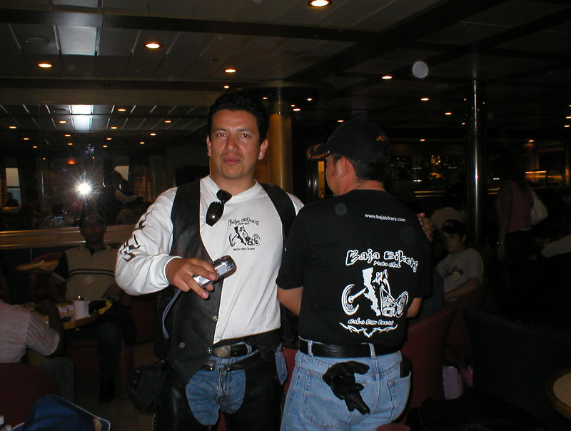 "www.bajabikers.com They are on their way to Mazatlan for bike week. ""Super"" I said, ""so are we"".