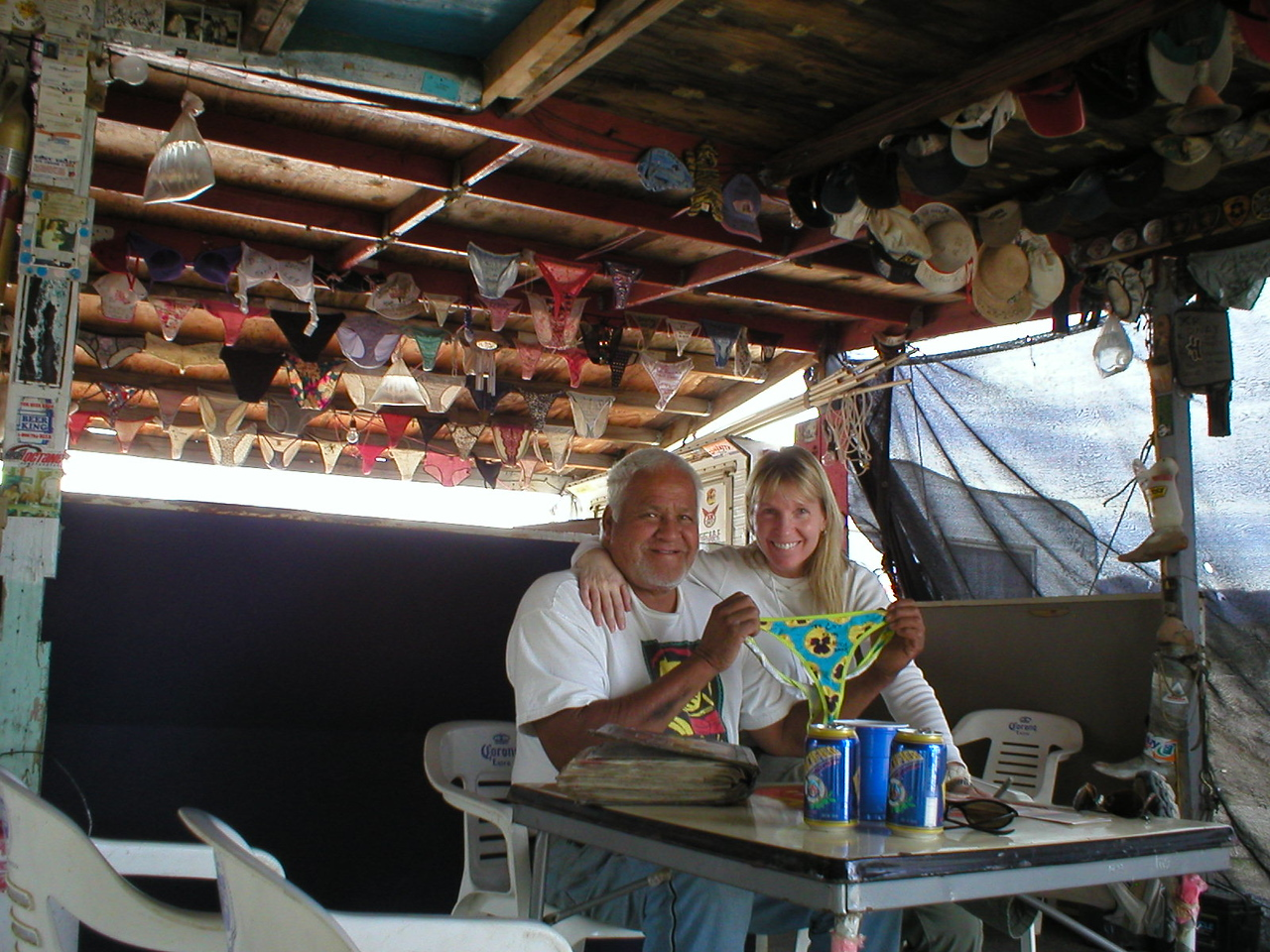 More Baja 1000 fun!<br /> This is Coco at his place in literally the middle of nowhere. Coco lost a leg in an accident years ago and now lives here right on the Baja 1000 race course. Coco serves cold beer and has lots of funny stories and information.