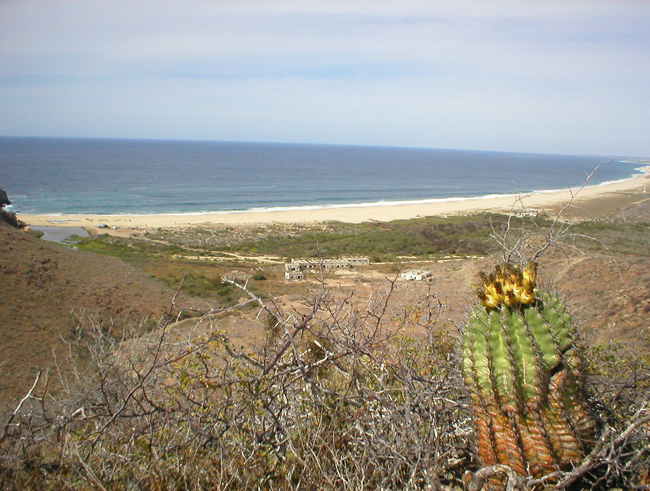 Heading back. This is the end of Todos Santos beach, it stretches over twenty miles long with no development.
