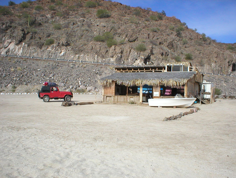 The main beach where all the RV's were had some permanent looking structures surrounding an RV or two. This one was for sale for $8,000 US. All you need to pay after that is the $6 per night fee, about $2,000 a year and it's yours for life, as long as you pay the fee. I want to contact my main windsurfing friends Tim and Connie to see if they want to go in half on the place. Two out of the three days we were there the winds were cranking in the windsurf part of the bay.