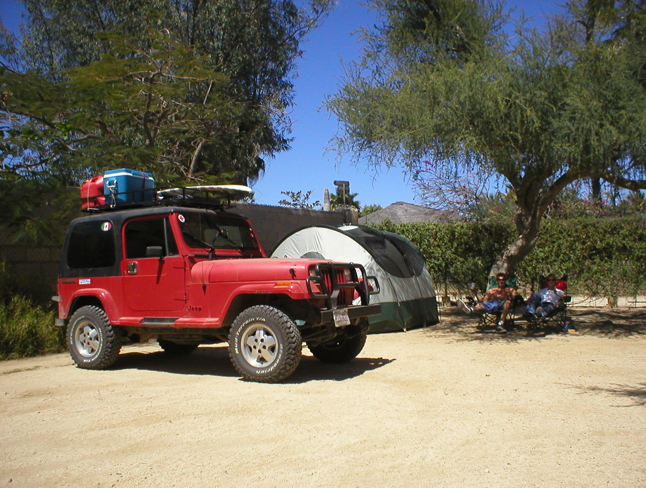 It was a short ride to Los Barriles. No budget hotels here so we planned to pitch the tent. This is the windsurf hot spot of the Baja. We planned to maybe stay two weeks here so I can get my wind fix. Wave surfing was cool but to me it was too much waiting around for a good wave only to ride it a short distance. Windsurfing in big winds is high intensity high speed fun for as long as your body can hold on, more my style. At Los Barriles we had the camp spot practically to our selves.