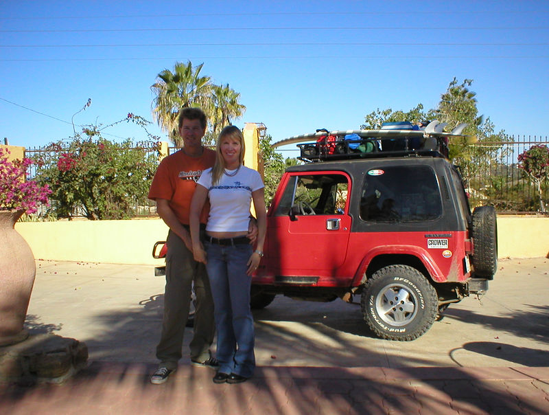 Latest Update 3/30/05: <br />       <br /> We were sad to leave Todos Santos but anxious to hit the road again.<br /> <br /> Packed up and ready to go: