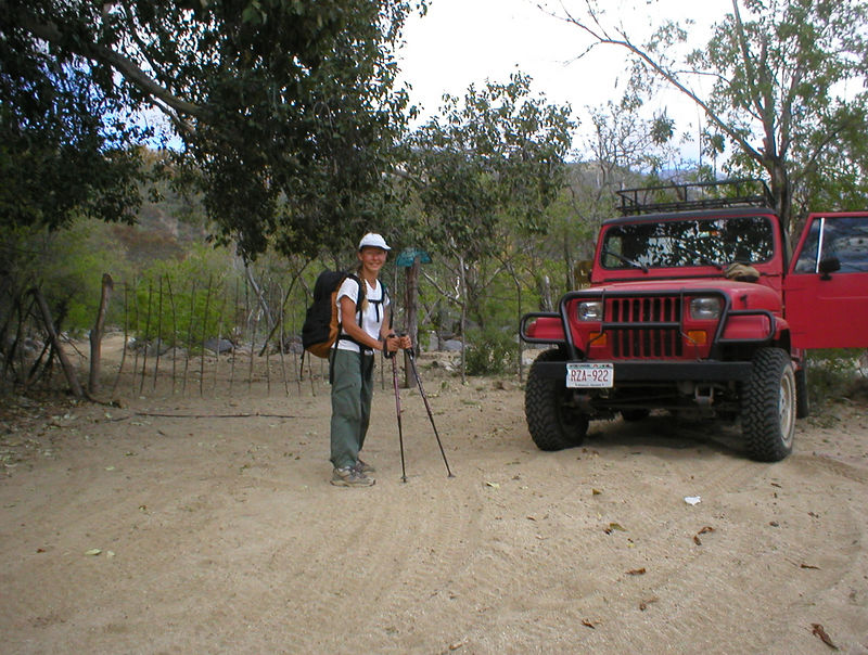 I park to check out the trail and out pops a hiker, Shelly. She has been out hiking for 5 days and asks if she could have a ride to town. Without a ride it would have added five more hours to her hike. Shelly knows a ton about backpacking and she also knows a lot about the trails and terrain around the area. She gives me a lot of good info. Heidi and I see her a couple days later and she draws us a map of some great trails with water falls and swimming holes.