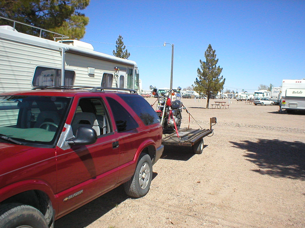Road Runner RV park, Demming NM. $5.00 / week to store the truck. Sweet!