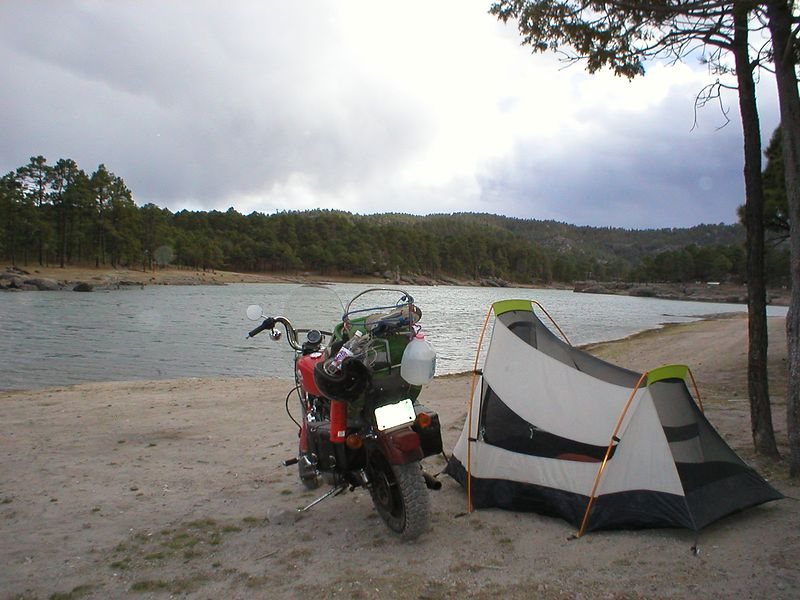 I came here for the nature, so I get out of Creel and head toward the Tarahumara Indian co-op reserve, 4 miles from Creel. It's 200 square kilometers of good hiking and camping. A $1.50 entrance fee is collected at the gate just off the main road. Another $1.50 fee is collected for camping from a guy who rides buy on bicycle. From here you can hike forever, if you're into that. On bike trips I like to plan physical activities, run, hike, swim. You can get that natural high plus you come back from a vacation in better shape and feeling better. ....I guess, anything for me to confirm that bike cruising is a good thing and I should continue with all my future planned trips. The most difficult part of planning a trip I think is the actual circling the date on a calendar saying this is when I will be leaving.