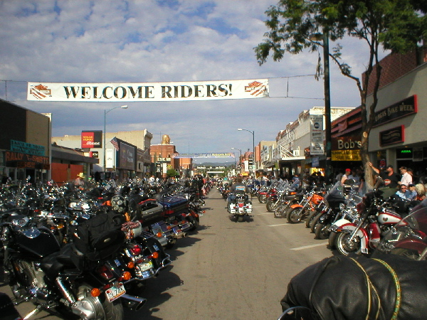 If you are going to do the Sturgis rally ya got to drive it down Main street. The 'bike only' traffic flows better here then around some outside routes and its fun to watch the show.