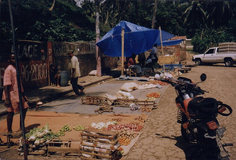 Marketplace in Samana, Republica Dominicana.