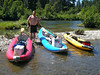 1300 Bret on gravelbar with kayaks