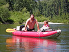 1285 Bret & Cheyenne in kayak