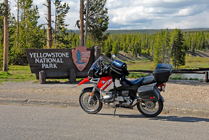 South entrance to Yellowstone National Park.