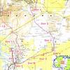 001 - <br /> Trip Map - <br /> 14 days cross-Saharan expedition from Djanet to Tamanrasset Algeria, through Seguedine, Djado, Dirkou, Bilma, Fachi, the Tree of Tenere, Agadez, Timia, & Iferouane Niger; with a final side trip to Assekrem. <br /> (Page 1-Image 1)