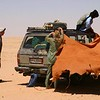 017 - <br /> Day 1 - <br /> Corralling the cars & setting up the camel leather tent for lunch <br /> (Page 1-Image 10)