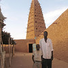 255 - <br /> Day 7 - <br /> Bibi, (our local friend), and his son, just inside the mosque <br /> (Page 17-Image 15)
