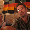 "273 - <br /> Day 8 - <br /> Lunch in the ""Tent of Flies"" - Bev & Flip, adjusting the video <br /> (Page 19-Image 3)"