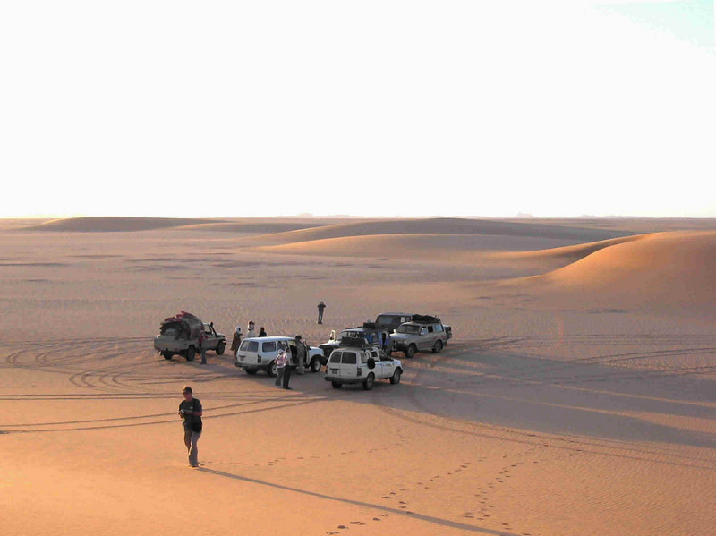 140 - <br /> Day 4 - <br /> Camp for the night, in the dunes outside Bilma, partway to Fachi <br /> (Page 10-Image 5)