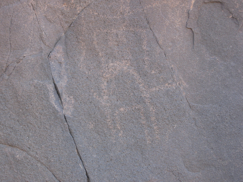 360 - <br /> Day 10 - <br /> Well weathered ancient rock art  <br /> (Page 24-Image 15)