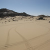 014 - <br /> Day 1 - <br /> Our tracks on the formerly pristine desert sand <br /> (Page 1-Image 14)
