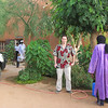 306 - <br /> Day 9 - <br /> The next day, Flip in the courtyard of L'Air hotel Agadez just before departing for the Air mountains <br /> (Page 21-Image 6)