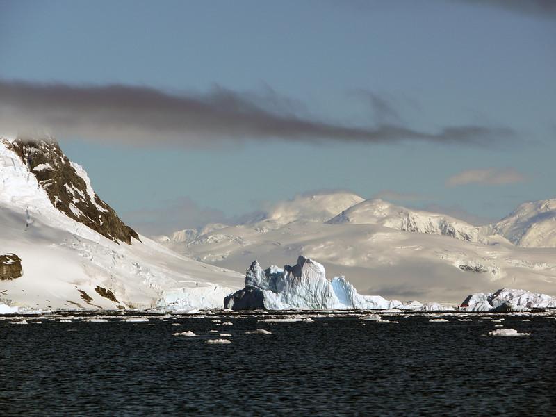 Mountainous iceberg in Neko Harbour, Mainland Antarctic Peninsula