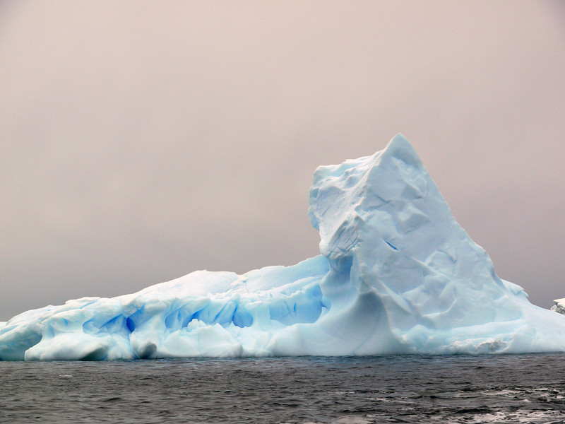 Pyramidal ice forms in the bay at Detaille Island, Antarctic peninsula