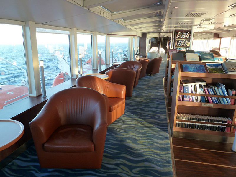 Ship's Library - Top of the ship with 360 degree views