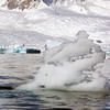 Ice sculpture in Neko Harbour, Mainland Antarctic Peninsula