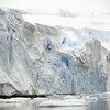 Glacier walls in the Crystal Sound, Antarctic peninsula