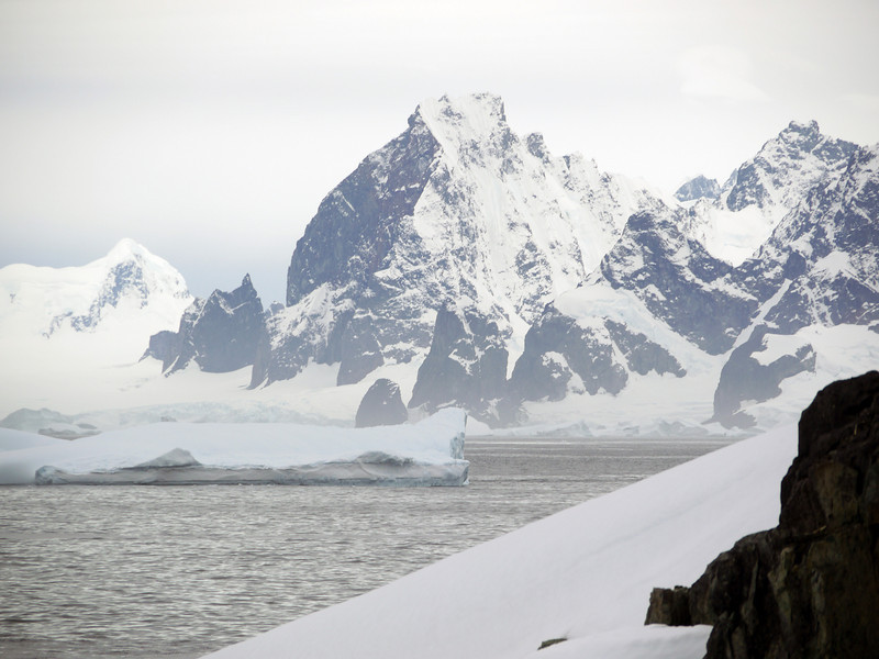 Icebergs in the bay at Detaille Island, Antarctic peninsula