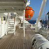 Outside decks at sides of the ship