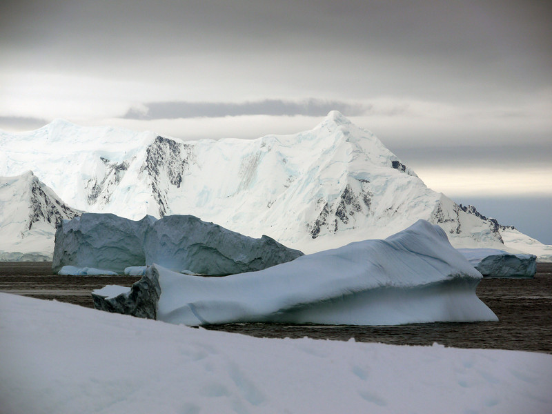 View of the iceberg bay from Detaille Island, Antarctic peninsula