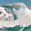 """Whale tail"" iceberg in Neko Harbour, Mainland Antarctic Peninsula"