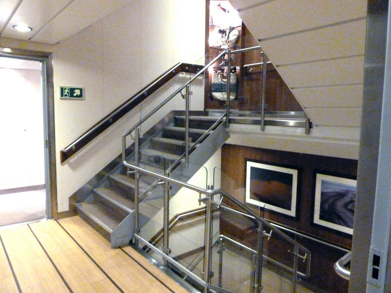 Ship's Central Stairwell - Access to cabins