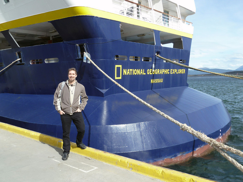 Boarding the ship in Ushuaia Argentina