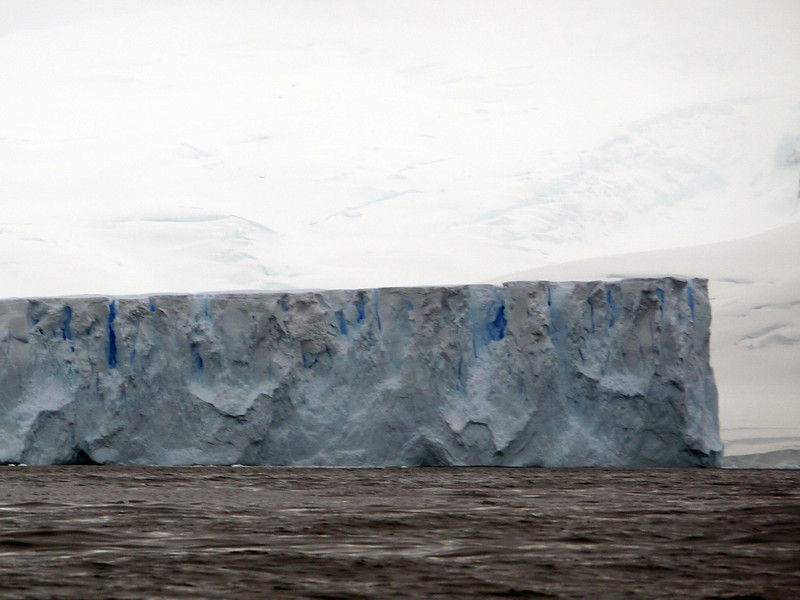 """Borg ship"" iceberg in the bay at Detaille Island, Antarctic peninsula"