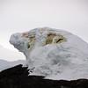 50 times life size leopard seal ice sculpture near Detaille Island, Antarctic peninsula